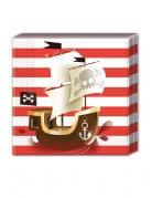 20 tovaglioli di carta teschio pirata