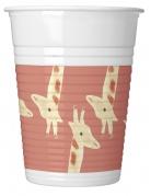 8 bicchieri di plastica safari party