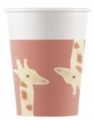 8 bicchieri in cartone safari party