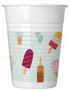8 bicchieri in plastica passione gelato