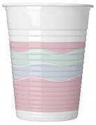 8 bicchieri di plastica party pastello