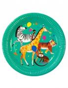 8 piatti in cartone Animal party 23 cm