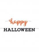 2 ghirlande Happy Halloween nero e arancio