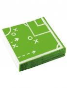 20 tovaglioli di carta strategia campo da calcio