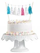 Decorazione per torte con pon pon iridescenti