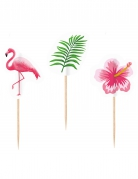 20 stecchini decorativi Flamingo Paradise
