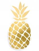 6 piatti in cartone ananas oro
