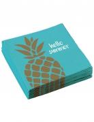 20 tovaglioli di carta ananas Hello Summer
