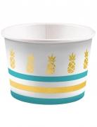 8 coppe gelato con ananas dorate