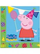 20 tovaglioli verdi e blu di carta Peppa Pig™