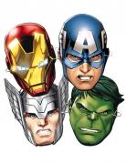 6 maschere in cartone super eroi Avengers™