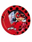8 piatti in cartone Ladybug™ 23 cm