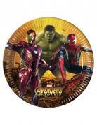 8 piatti in cartone Avengers Infinity War™ 23 cm
