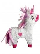 Pignatta unicorno bianco e rosa con bastone