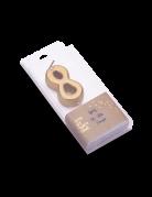Candelina color oro metellizzato numero 8