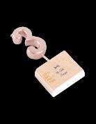 Candelina color oro rosa numero 3