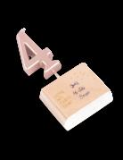 Candelina color oro rosa numero 4