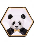 8 piatti in cartone panda 23 cm