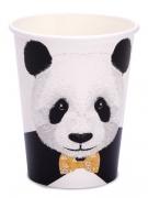 8 bicchieri in cartone panda
