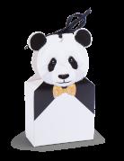 8 scatoline panda con nastrino