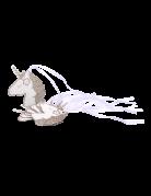 8 etichette in cartone unicorno bianco e oro