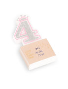 Candelina compleanno principesse numero 4