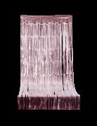 Tenda di frange scintillante oro rosa