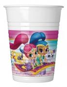 8 bicchieri in plastica Shimmer & Shine™