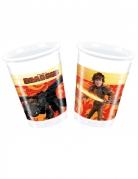 8 bicchieri di plastica Dragon Trainer™