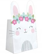 8 sacchetti regalo di carta coniglio bianco