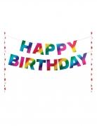 Decorazione torta Happy Birthday arcobaleno