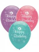 6 palloncini in lattice sirena iridescente