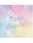 16 tovaglioli di carta multicolor iridescenti Baby Shower