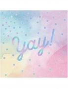 16 tovagliolini di carta multicolor Yay! iridescente
