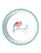 8 piatti in cartone premium La Sirenetta™ 23 cm