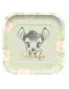 4 piatti in cartone quadrati premium Bambi™ 24 cm