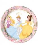 8 piatti in cartone premium Principesse Disney™ 23 cm