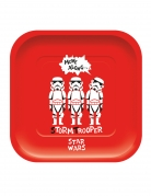 4 piatti in cartone quadrati premium Star Wars™