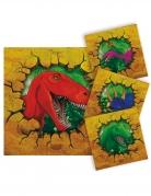 16 tovagliolini di carta colorati dinosauri