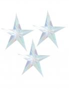 3 stelle da sospendere iridescenti