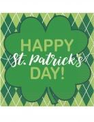 16 tovaglioli di carta Happy St Patrick's Day