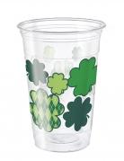 8 maxi bicchieri in plastica San Patrizio