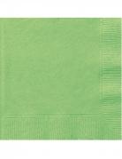 20 mini tovaglioli di carta color verde