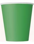 14 bicchieri in cartone verde