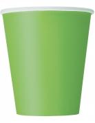 14 bicchieri in cartone verde limone