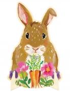 Centrotavola di carta coniglio floreale