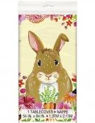Tovaglia in plastica coniglio floreale