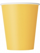 14 bicchieri in cartone gialli