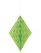 Rombo in carta alveolata color verde limone