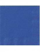 20 mini tovaglioli di carta blu